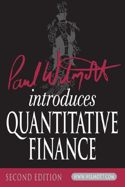 Introduces Quantitative Finance Paul Wilmott