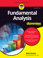 Fundamental Analysis for Dummies 2nd