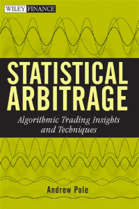 Statistical arbitrage Algorithmic
