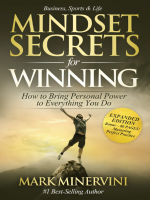 Mindset Secrets for Winning Mark Minervini
