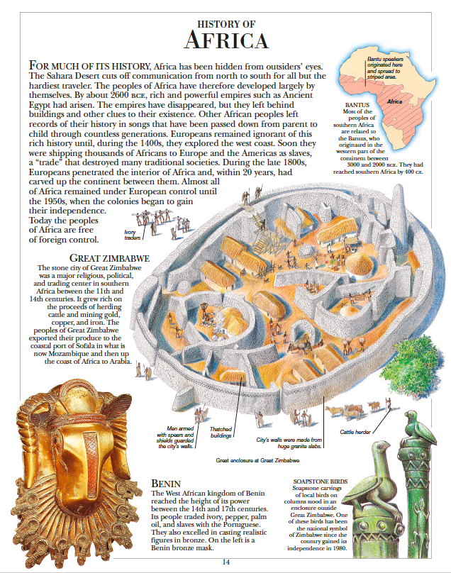 History of Africa Children's illustrated encyclopedia