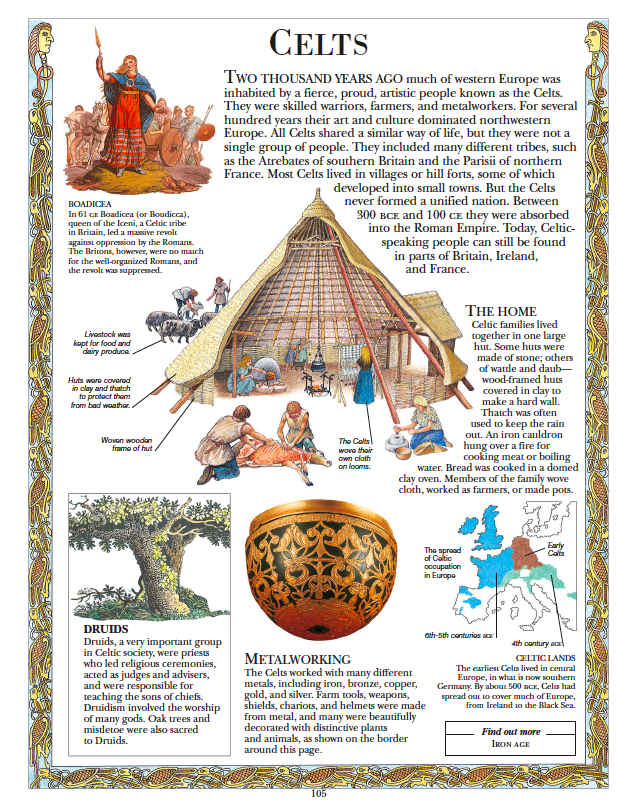 How celts was made children's illustrated encyclopedia